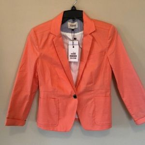 Bershka NWT jacket sz S rich coral color lovely